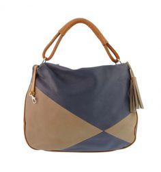 Maxi bolso de 1 asa en piel lisa tricolor - Paula Alonso   Tienda online