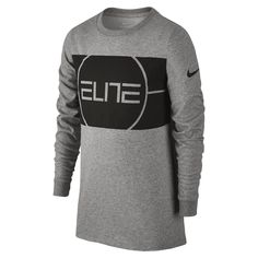 b6712617fe8 Nike Dry Elite Logo Big Kids  (Boys ) Long Sleeve Basketball Shirt Size
