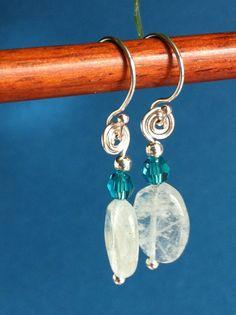 Aquamarine and Swarovski Crystal on Sterling by TheRobinsNestEgg, $23.00