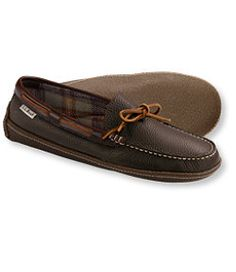 #LLBean: Men's Handsewn Slippers, Flannel-Lined