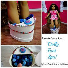 Doll Craft – Make a Doll Sized Foot Spa