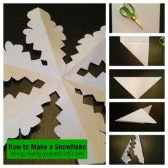 How to Make a Snowflake Tutorial