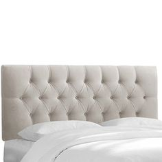 Shop for grey velvet headboard at Bed Bath & Beyond. Buy top selling products like TOV Furniture Nacht Velvet Headboard and Skyline Furniture Hinsdale Headboard with Velvet Upholstery. Shop now! Headboard With Lights, Full Headboard, Queen Headboard, Panel Headboard, Headboard Ideas, Grey Headboard, Skyline, Velvet Tufted Headboard, Upholstered Headboards
