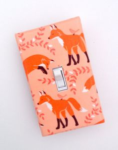 Fox Nursery Decor / Light Switch Plate Cover / Peach by SSKDesigns, $10.00