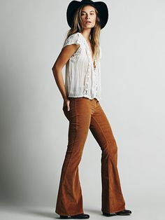 Free People Pull on Corduroy Flare at Free People Clothing Boutique