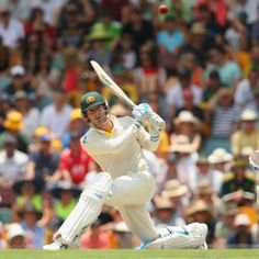 Michael Clarke sweeps Graeme Swann on day three - Michael Clarke of Australia bats during day three of the First Ashes Test match between Australia and England at The Gabba on November 23, 2013 in Brisbane, Australia. Getty Images: Mark Kolbe