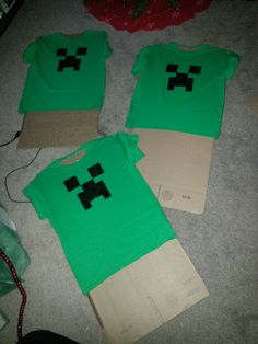 Minecraft party shirts