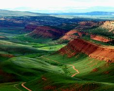 Red Canyon, WY - Near Lander, provides this beautiful view from the road above…