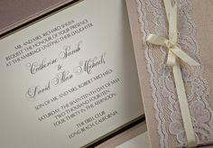 Lace Wedding Invitations by ShopSugarletter on Etsy, $75.00