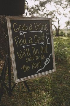 Wedding Signage We are a big fan of this ceremony sign! Wedding signage can change your whole day an Wedding Ceremony Signs, Wedding Signage, Rustic Wedding, Fall Wedding, Wedding Reception, Brewery Wedding, Wedding Tables, Wedding Favors, Wedding Bouquets