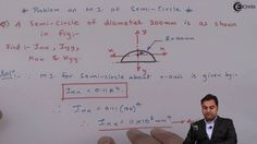 Learn Online | Problem on Calculation of Moment of Inertia of a Semi-Cir...
