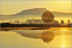 Raimund Linke - Landschaft im Morgennebel