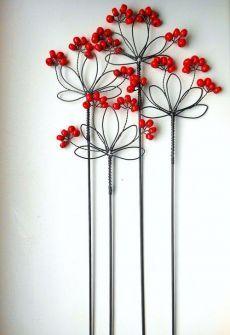 Wire Crafts, Bead Crafts, Paper Crafts, Wire Flowers, Paper Flowers, Diy Arts And Crafts, Fall Crafts, Art Fil, Geometric Shapes Art