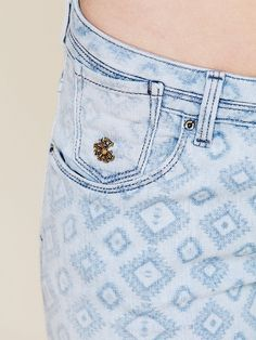 Maison Scotch Geo Print Skinny Jean at Free People Clothing Boutique