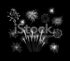 Fireworks set royalty-free stock vector art