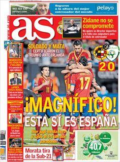 Los Titulares y Portadas de Noticias Destacadas Españolas del 12 de Junio de 2013 del Diario Deportivo AS ¿Que le parecio esta Portada de este Diario Español?