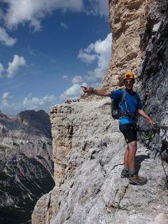 Dolomites Via Ferrata, near Cortina, Italy, province if Belluno Veneto