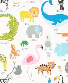 Scion Animal Magic Tutti Frutti/Chalk Wallpaper - 111287 - Guess Who Wallpapers Collection