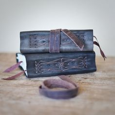 Indigo Leather Journal 5x6 Handbound Journal For Her For by Odelae