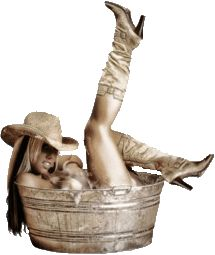 Cowgirl in Bucket Photography | Kick Up Cowgirl Boots Country Girl Horse Hat Tin Tub Auction Template ...
