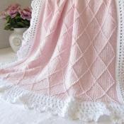 Paris Knit Baby Blanket CCP - via @Craftsy