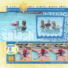 scrapbooking+layouts | Swimming Pool Digital Scrapbooking Layout | Flickr - Photo Sharing!