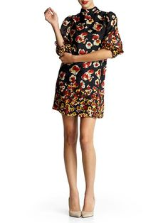 mini floral dress at Aryn K. (I think the Spring has got me feeling florals!) Via the always awesome Justina Blakeney!