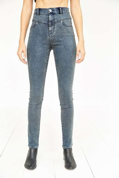 BDG High-Rise Seamed Jean - Ghost - Urban Outfitters