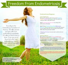 If you are suffering from Endometriosis, here is some natural help with essential oils. Check us out at Facebook.com/EssentialOilsforGoodHealth or on Twitter at @EOs4GoodHealth for more information.