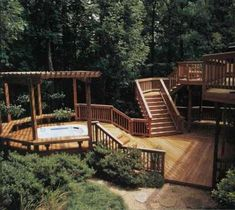 multi-level deck. the home i'm purchasing has a deck but I want to add a 2nd layer.
