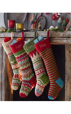 Garnet Hill Fair Isle Woolen Stocking