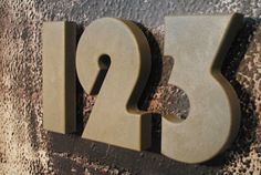 Concrete House Numbers from fmcdesign on etsy