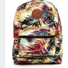 "Steve Madden Palm Print Backpack Brand new Steve Madden Palm Print Backpack with embroidered design. Features a top handles, adjustable straps, top zip closure and zip pockets inside and outside of bag. Bag measures 15""H x 11.5""W. Perfect for the spring! Steve Madden Bags Backpacks"