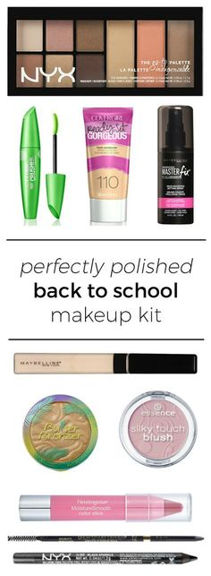 The perfect back to school makeup kit featuring affordable drugstore makeup + th. - The perfect back to school makeup kit featuring affordable drugstore makeup + the best makeup brush - Best Drugstore Makeup, Best Makeup Brushes, Makeup Dupes, Makeup Case, Makeup Brush Set, Makeup Kit, Makeup Cosmetics, Best Makeup Products, Makeup Ideas