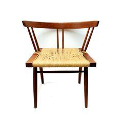 Rare George Nakashima Grass Seat Chair by TheModernHistoric
