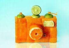 Esculturas con alimentos