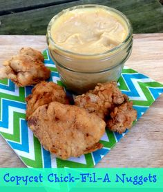 Copycat Chick-Fil-A Nuggets Recipe via 2 Sisters Chick Fil A Nuggets, Chick Fil A Sauce, Turkey Recipes, Chicken Recipes, Dinner Recipes, Turkey Dishes, Entree Recipes, Party Recipes, Dinner Ideas
