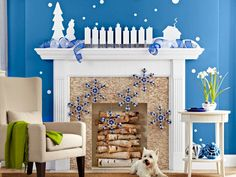 Stockings aren't the only things you can hang from a mantel. Jingly snowflakes