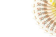 heap of 50 euro bank notes