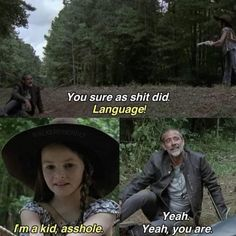 The Walking Death, Walking Dead Show, Walking Dead Funny, Twd Memes, Funny Memes, Judith Grimes, American Horror Story 3, Best Shows Ever, Movies