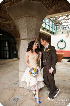 LOVE her dress  Doctor Who geek wedding (74)