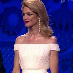 Natalia Vodianova wears Ulyana Sergeenko Couture  at the ceremony of the 2018 FIFA World Cup Russia preliminary draw in Saint Petersburg