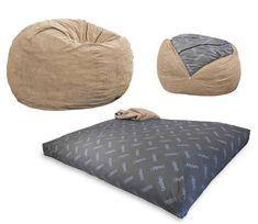 Convertible Bean Bag Chair Converts From A To Mattress Bed