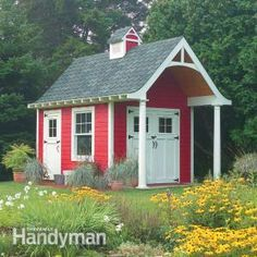 Build a New Storage Shed with One of These 23 Free Plans: Free Shed Plan for a Schoolhouse Storage Shed Backyard Sheds, Outdoor Sheds, Garden Sheds, Free Shed Plans, Shed Building Plans, Potting Sheds, She Sheds, Shed Storage, Diy Storage