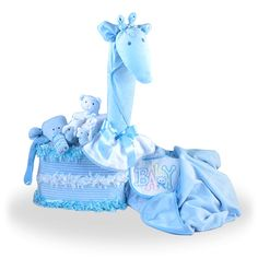 Looking for Pink Giraffe Diaper Cake Creation Gift Set for Boy Baby Shower Cakes, Baby Shower Gifts, Baby Gifts, Unique Diaper Cakes, Funny Blogs, Pink Giraffe, Baby On The Way, Cake Creations, Gifts For Boys