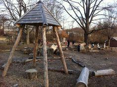 Cincinnati Waldorf School natural play area
