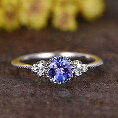 Solid Real Split Shank Halo Diamond Oval Tanzanite Ring 14K Yellow Gold 0.39CT Handmade Dainty Ring For Women Gift  Easter Gift Daily Wear