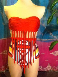 2pc High Waist Swimsuit 'Fringe Fest'. $58.00, via Etsy. So cute!