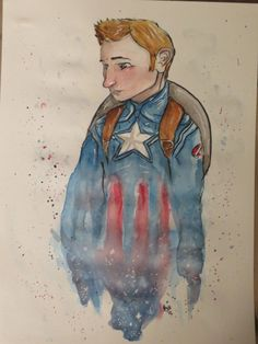 Captain America by Maggie Rice. YAS, DRAWING MAH SENIOR CITIZENS!!!! Speedpaint's up, and prints are for sale if you're interested. :D  @Sarah and Sonja Hills, this is also for you!