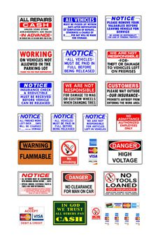 http://www.ebay.com/itm/1-87-HO-scale-model-automobile-repair-car-service-auto-shop-signs-/171445034440?pt=Model_RR_Trains
